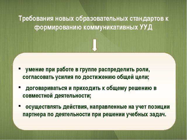 - Требования новых образовательных стандартов к формированию коммуникативных...