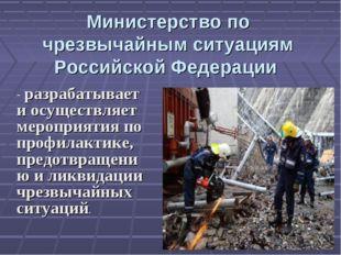 Министерство по чрезвычайным ситуациям Российской Федерации - разрабатывает