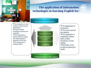 The application of information technologies in learning English for: