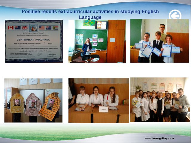 Positive results extracurricular activities in studying English Language www....