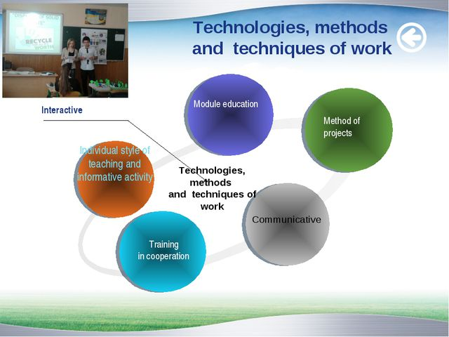 Technologies, methods and techniques of work
