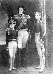 Генерал Раевский Н.Н. с сыновьями Николаем и Александром, худ. С.В. Данилин