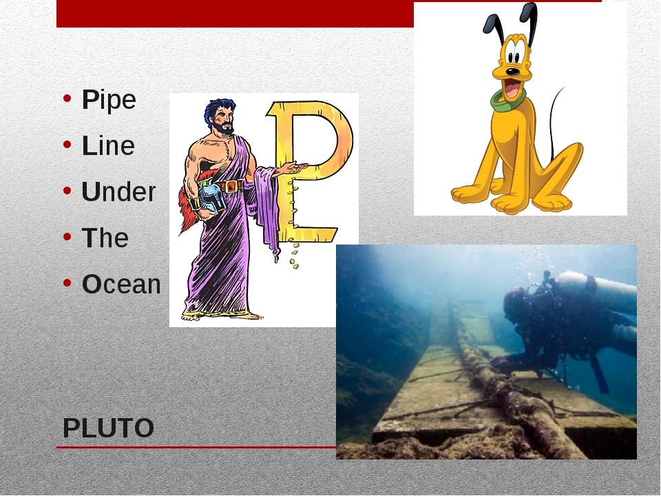 PLUTO Pipe Line Under The Ocean