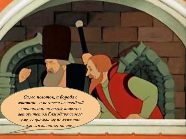 19.1.13 Сам с ноготок, а борода с локоток - о человеке незавидной внешности,...
