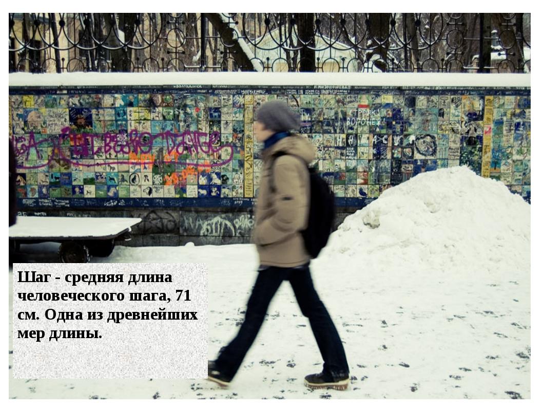 19.1.13 Шаг - средняя длина человеческого шага, 71 см. Одна из древнейших мер...