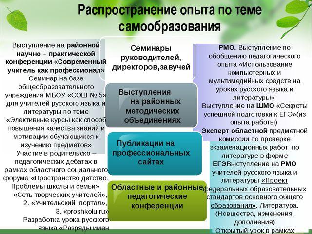 РМО. Выступление по обобщению педагогического опыта «Использование компьютер...