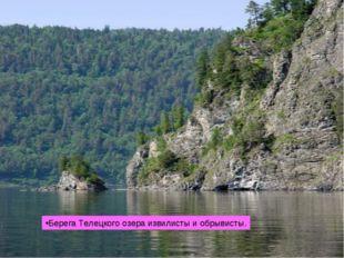 Берега Телецкого озера извилисты и обрывисты.