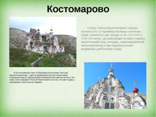 Костомарово В 150 километрах к югу от Воронежа расположен Спасский женский мо