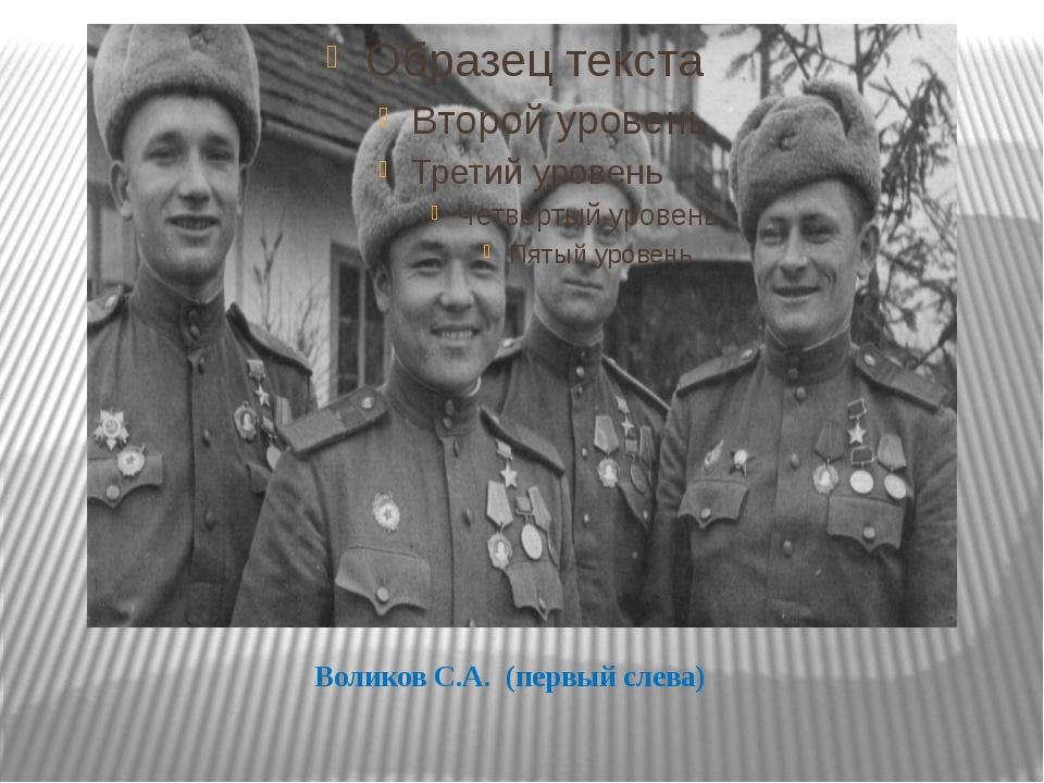 Воликов С.А. (первый слева)