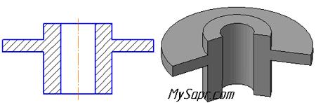3d модель фланца