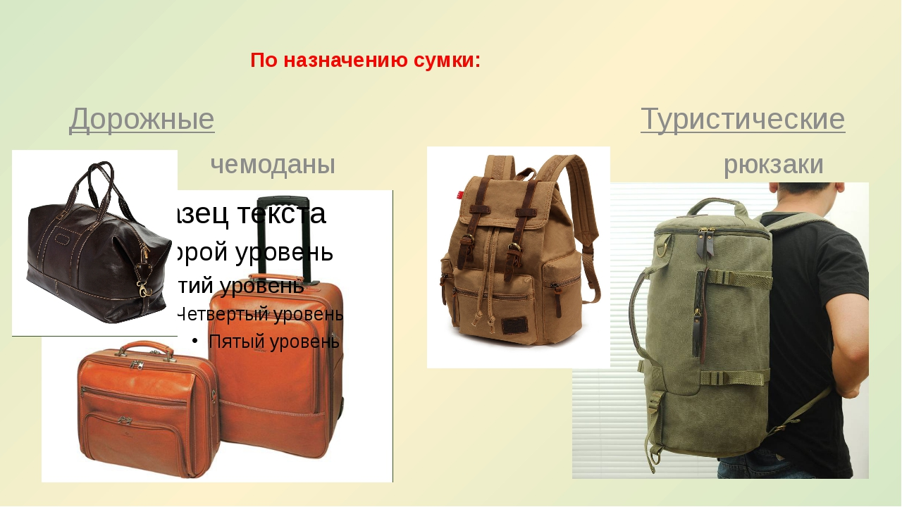 По назначению сумки: Дорожные Туристические чемоданы рюкзаки