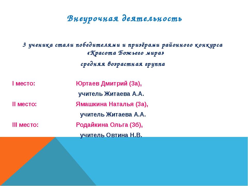 3 ученика стали победителями и призёрами районного конкурса «Красота Божьего...