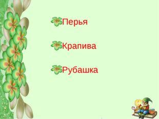 Перья Крапива Рубашка