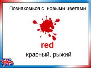 Познакомься с новыми цветами red красный, рыжий