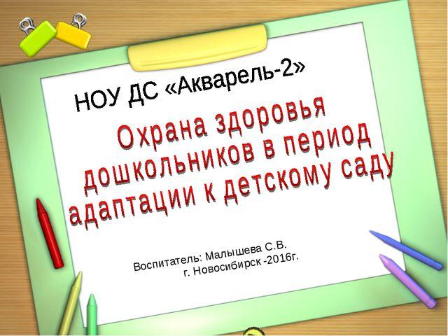 Воспитатель: Малышева С.В. г. Новосибирск -2016г.