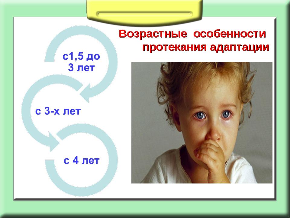 Возрастные особенности протекания адаптации