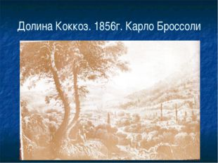 Долина Коккоз. 1856г. Карло Броссоли