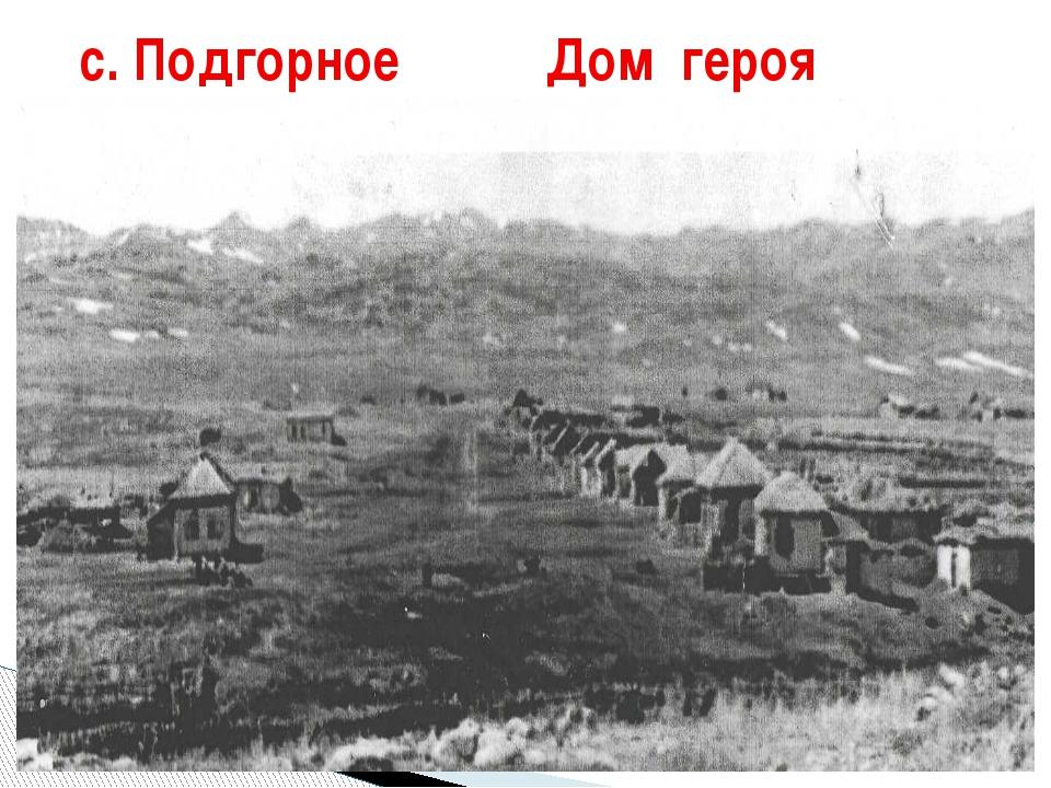 с. Подгорное Дом героя