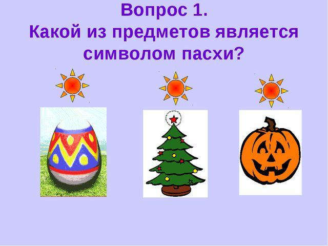 Вопрос 1. Какой из предметов является символом пасхи?