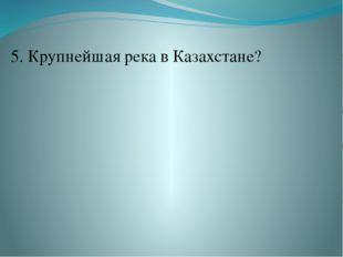 5. Крупнейшая река в Казахстане?
