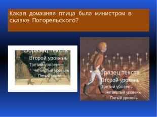 Какая домашняя птица была министром в сказке Погорельского?