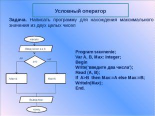 Case K of A1: ; A2: ; … An:  Else  End; Где K – выражение-селектор (имеет то
