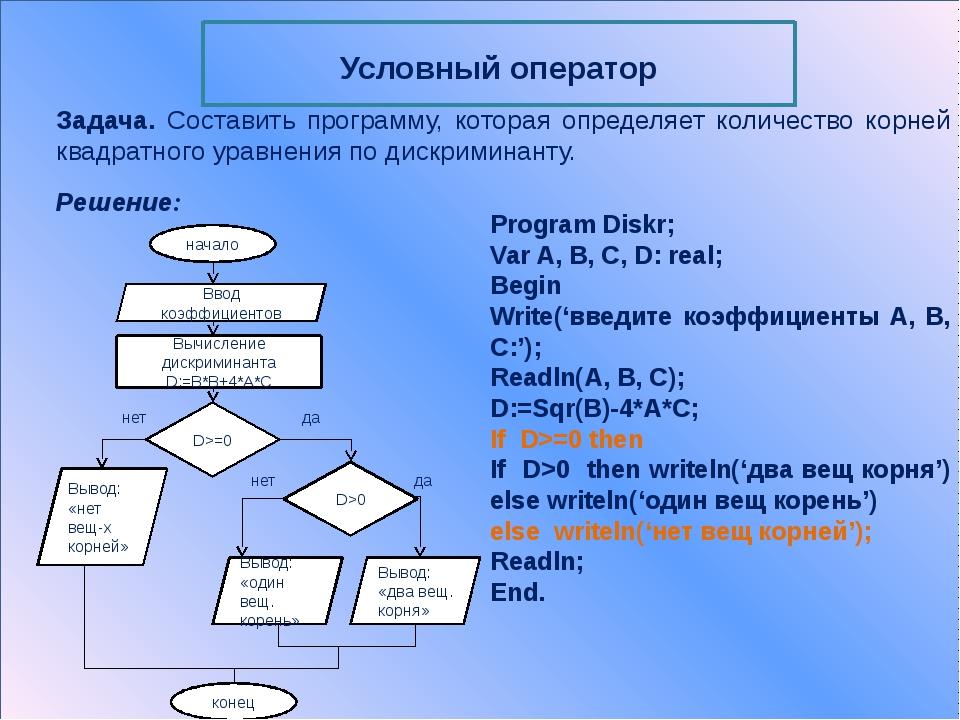 Операторы цикла Цикл с предусловием (цикл – пока) Цикл с постусловием (цикл...