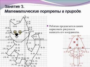 Занятие 3. Математические портреты в природе. Ребятам предлагается самим нари