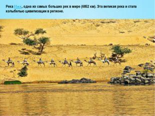 РекаНил, одна из самых больших рек в мире (6852 км). Эта великая река и стал