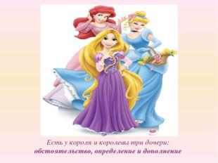 Есть у короля и королевы три дочери: обстоятельство, определение и дополнение