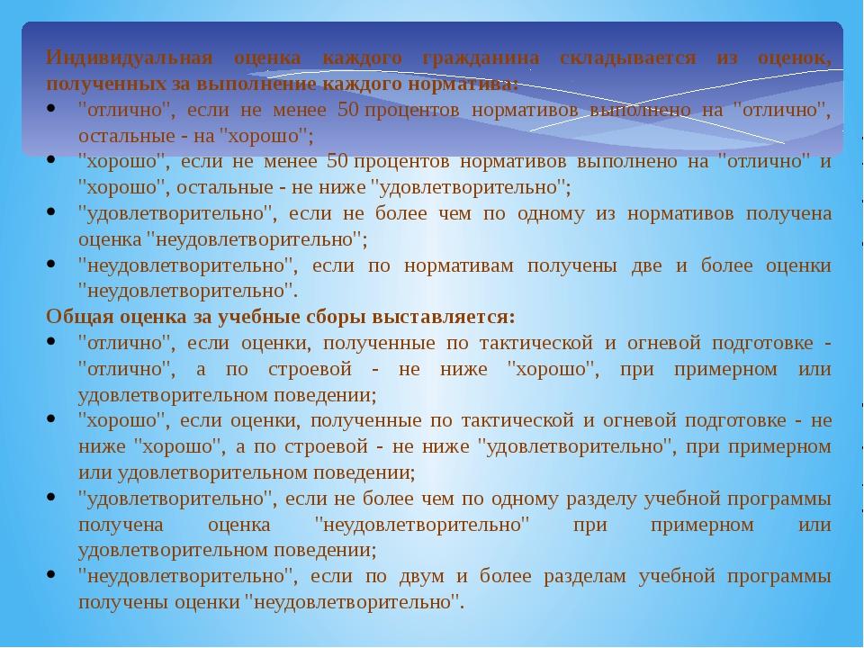 Индивидуальная оценка каждого гражданина складывается из оценок, полученных з...