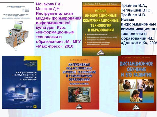 Монахова Г.А., Монахов Д.Н. Инструментальная модель формирования информационн...