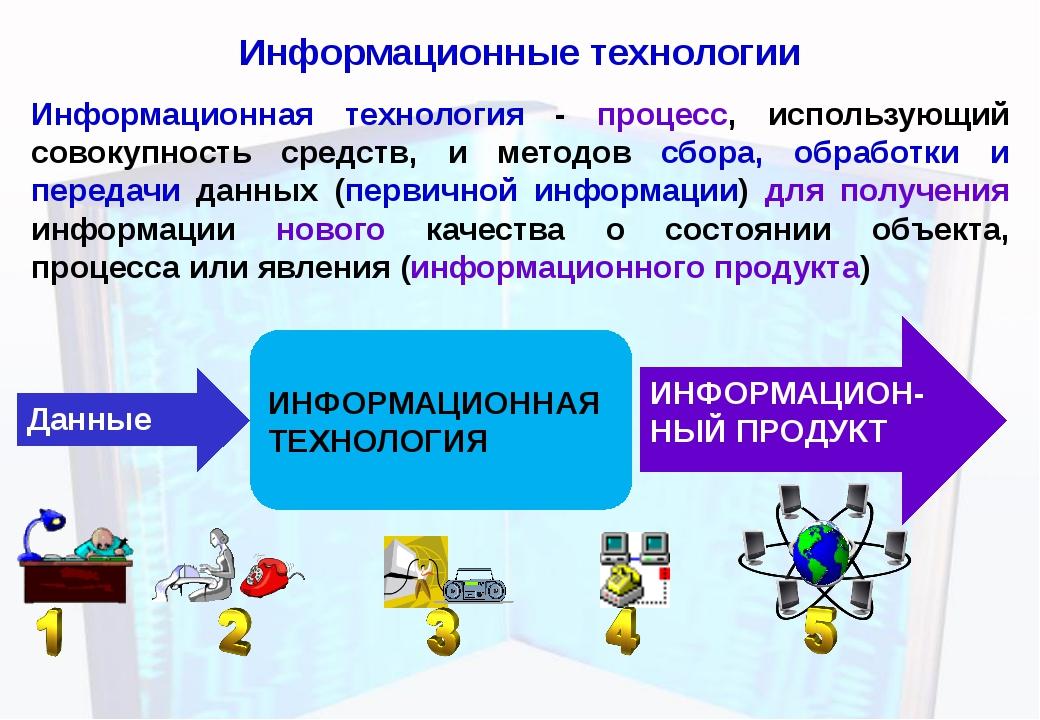 Информационные технологии Информационная технология - процесс, использующий с...