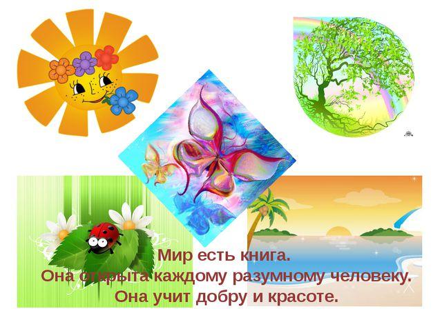 Мир есть книга. Она открыта каждому разумному человеку. Она учит добру и крас...