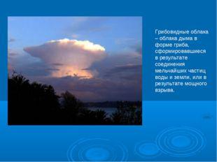 Грибовидные облака – облака дыма в форме гриба, сформировавшиеся в результате