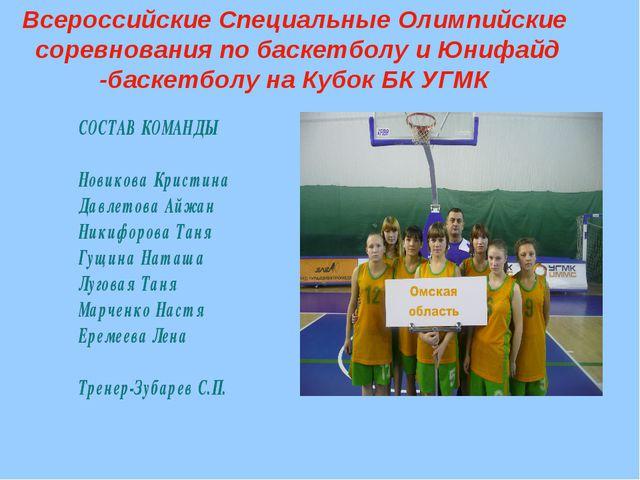 Всероссийские Специальные Олимпийские соревнования по баскетболу и Юнифайд -б...