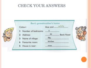 CHECK YOUR ANSWERS 2 56 Sky kitchen river