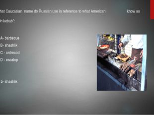 12.what Caucasian name do Russian use in reference to what American know as ""