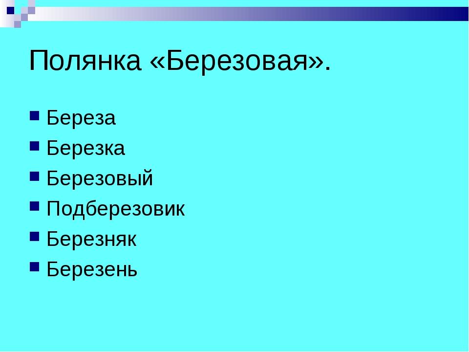 Полянка «Березовая». Береза Березка Березовый Подберезовик Березняк Березень