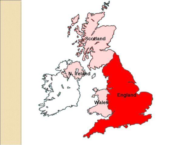 England Wales N. Ireland Scotland