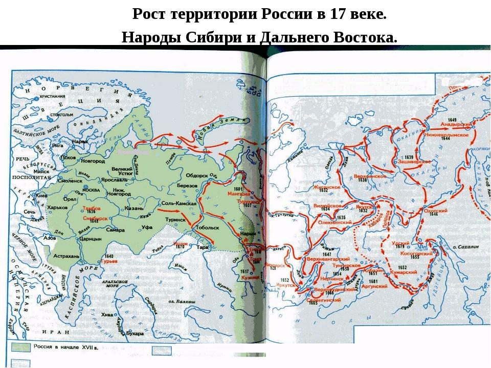 Рост территории России в 17 веке. Народы Сибири и Дальнего Востока.