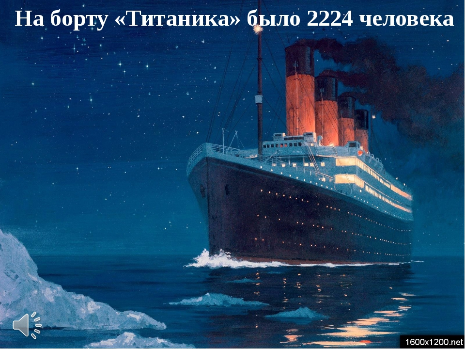 На борту «Титаника» было 2224 человека