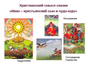 Христианский смысл сказки «Иван – крестьянский сын и чудо-юдо» Трудолюбие Сос
