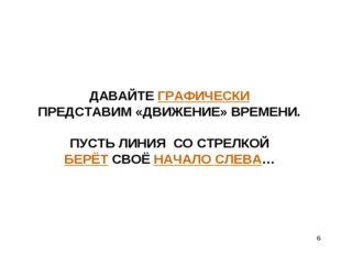 * ДАВАЙТЕ ГРАФИЧЕСКИ ПРЕДСТАВИМ «ДВИЖЕНИЕ» ВРЕМЕНИ. ПУСТЬ ЛИНИЯ СО СТРЕЛКОЙ Б