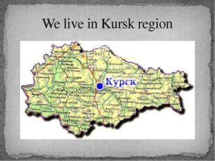 We live in Kursk region