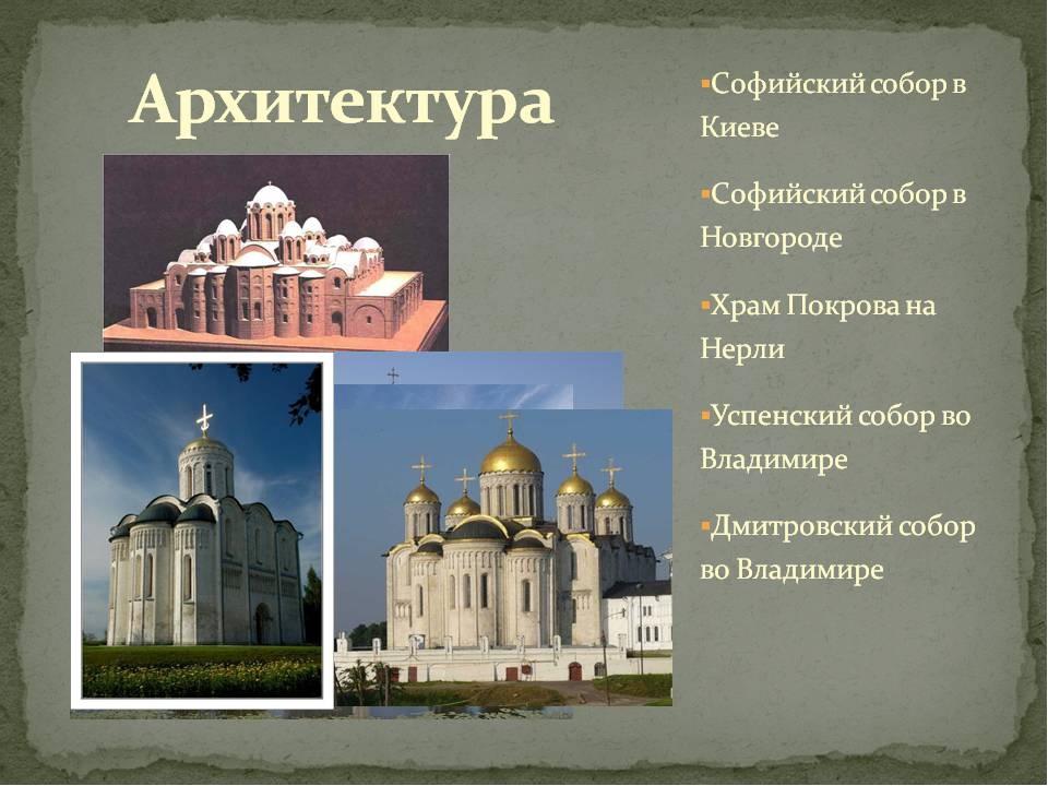 архитектура древней руси картинки с названиями богородским