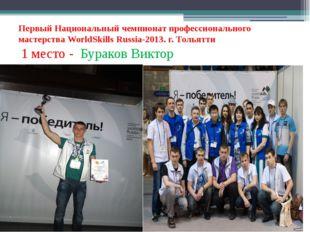 Первый Национальный чемпионат профессионального мастерства WorldSkills Russi