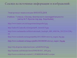 Ссылки на источники информации и изображений: http://www.mchsmedia.ru/files/w