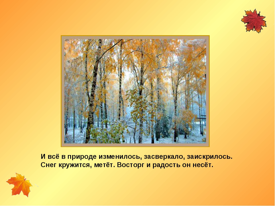 И всё в природе изменилось, засверкало, заискрилось. Снег кружится, метёт. Во...