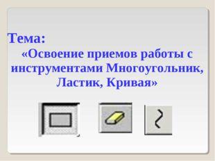 Тема: «Освоение приемов работы с инструментами Многоугольник, Ластик, Кривая»